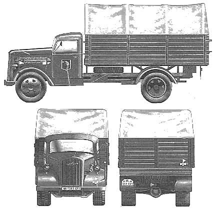 Opel Biltz Kfz.305 3ton 4x2 Cargo Truck
