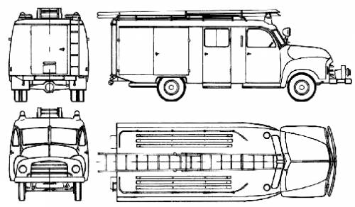 Opel Blitz 1.5t Fire Truck (1957)