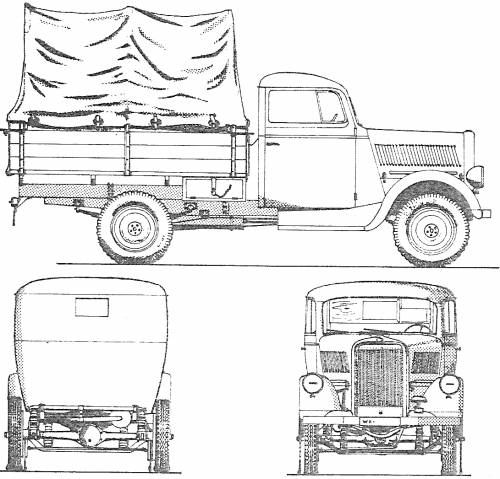 Opel Blitz 1ton 4x2