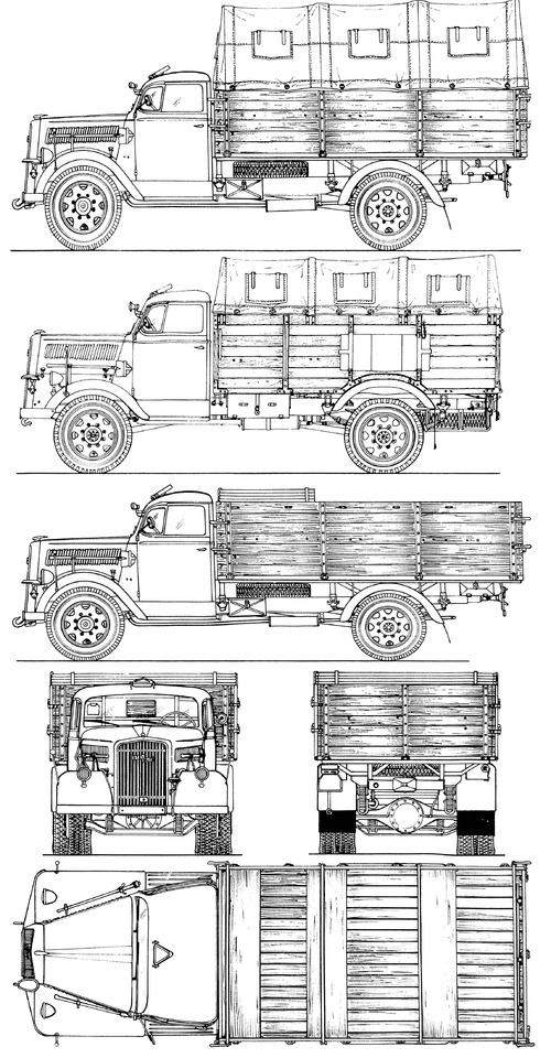 Opel Blitz Lkw 3ton 4x2