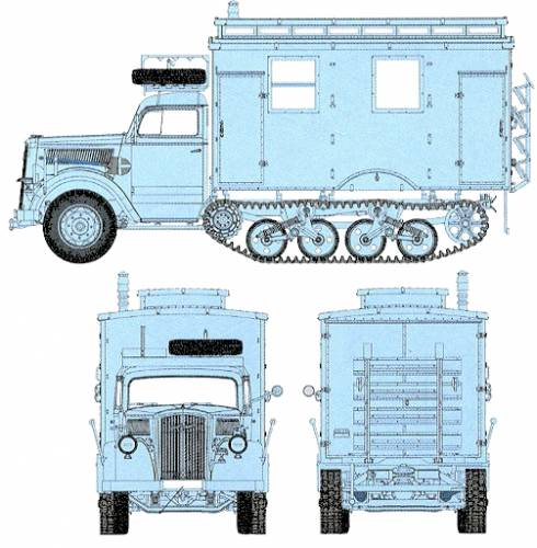Opel Blitz Sd.Kfz. 3 Maultier Ambulance