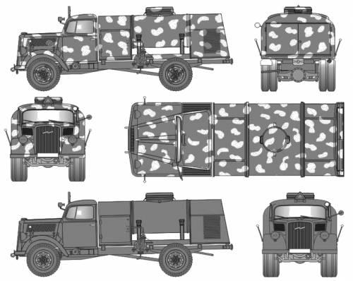 Opel Blitz Stoff Tank Wagen