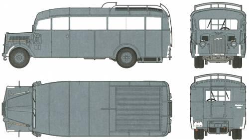 Opel Blitz W39 Omnibus 3.6-47 (1939)