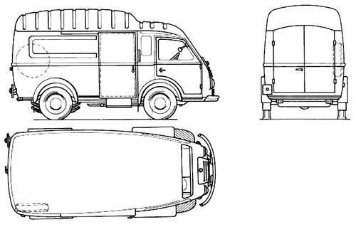 Renault Goelette Fourgon Sureleve A