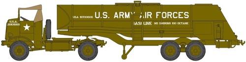 Autocar U-7144-T 4x4 & F-1 Fuel Trailer