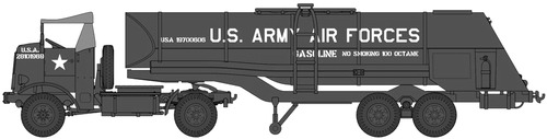 Autocar U-7144-T 4x4 Tractor + F-1 Fuel Trailer