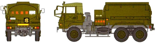 Mitsubishi Fuso JGSDF Type 74 3.5ton 6x6 Fuel Tanker