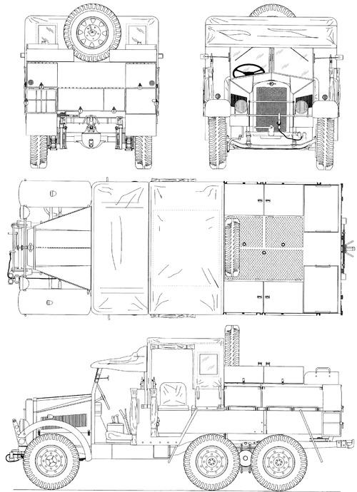 Morris Commercial CDSW 15cwt 6x4 (1935)