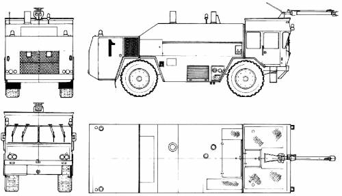 Perlini B502 4x4 Rosenbauer Fire Truck (1971)