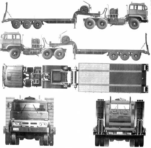 PLA 50ton Tank Transporter