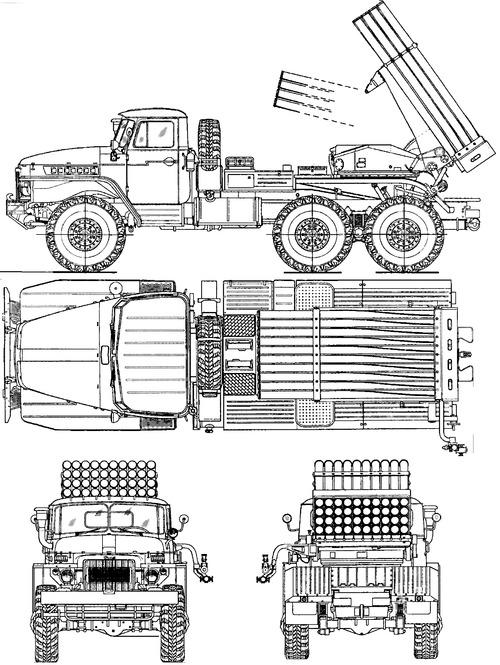 Ural-375D BM-21 Grad