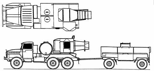Ural-375E + Decontamination Apparatus TMS-65