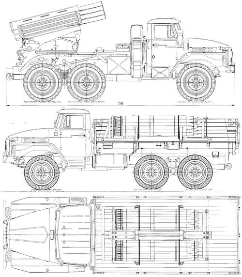 Ural-375L BM-21-1 Grad
