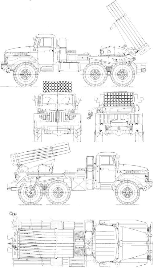 Ural-375L BM-21 Grad