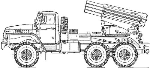 Ural-4320 BM-21-1 Grad