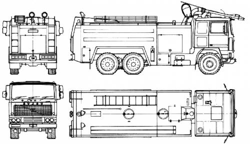 Volvo F1227 Turbo Fire Truck (1982)
