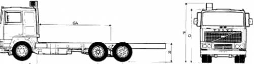 Volvo F12 6x2 Truck (1977)