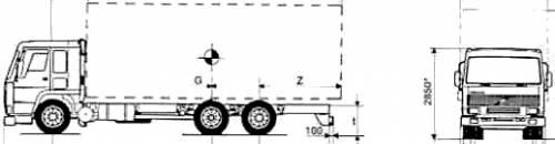 Volvo FL7285 6x2 MTT 26ton Truck (1996)