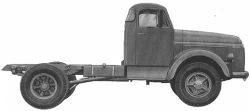 Volvo L485 Diesel Tractor Truck (1960)