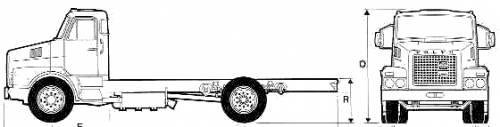 Volvo N10 4x2 Truck (1977)