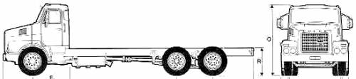 Volvo N10 6x2 Truck (1977)