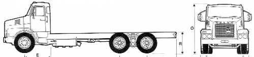 Volvo N12 6x4 Truck (1977)