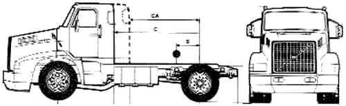 Volvo NL10 4x2 Tractor (1989)