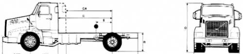 Volvo NL12 4x2 Rigid 20.5ton Truck (1989)