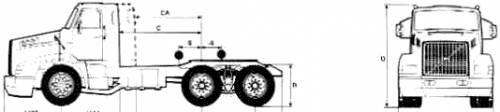 Volvo NL12 6x4 Tractor Truck (1989)