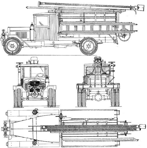 ZIS-11 PMZ-6 Fire Truck