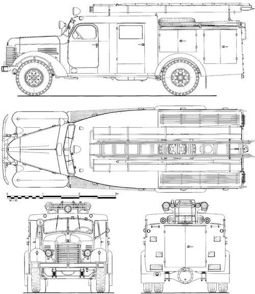ZiS-150 PMZ-9M Fire Tanker (1953)
