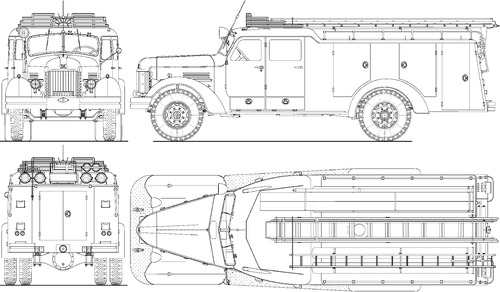 ZIS-150 PMZM-2 Fire Engine