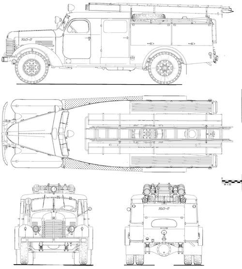 ZIS-151 PMZ-17 Fire Tanker (1955)