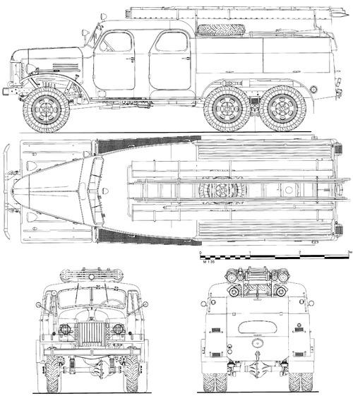 ZIS-151 PMZ-27 Fire Tanker