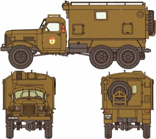 ZIS-151 (same to ZIL-151) With KUNG shelter