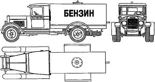 ZiS-5 BZ Fuel Truck