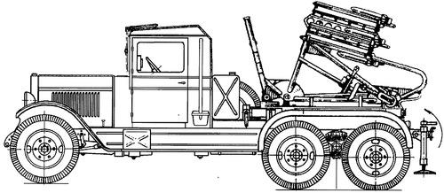 ZiS-6 BM-8-36 Katyusha