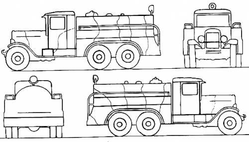 ZIS-6 BZ-35 Fuel Truck