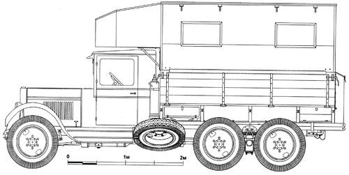 ZiS-6 PARM-1 Aircraft Field Repair Truck