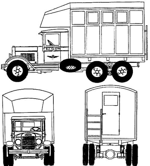 ZiS-6 PARM-2 Aircraft Field Repair Truck