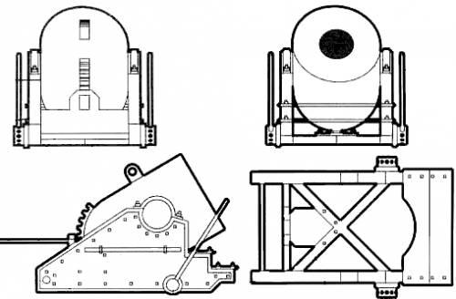 13 inch' Seacoast Mortar Model (1861)