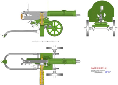 Heavy machine gun Maxim 1910-1940 (1910)