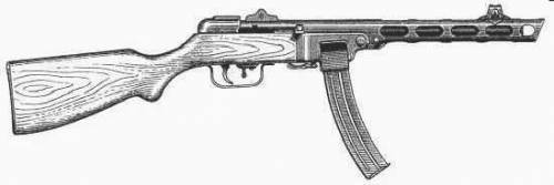 PPSh41 7.62mm SMG