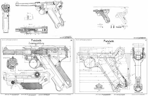 Mauser P08 Construction Plan