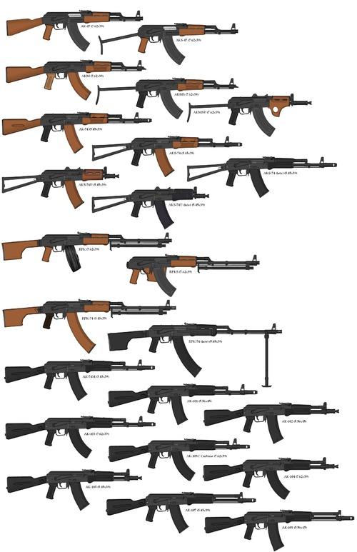 AK Kalashnikov Family