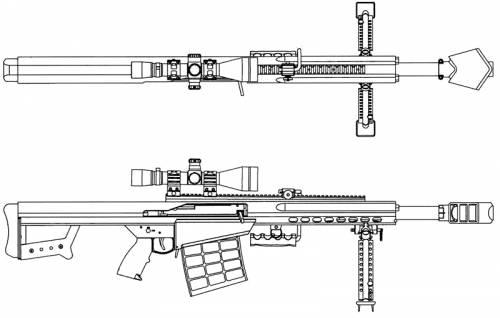 Barrett M95 .50 cal