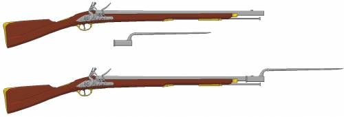 Brown Bess Musket 1776