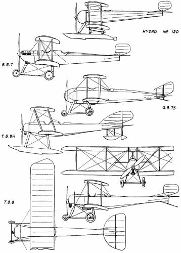 Bristol-Coanda Biplanes (England) (1913)