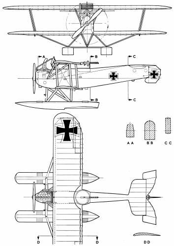 Hansa-Brandenburg W.12 Seaplane