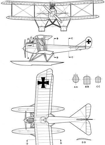 Rumpler 6B-1 Seaplane